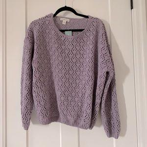 New Purple Coldwater Creek Sweater